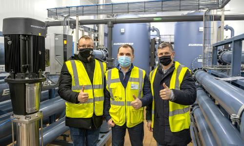 Turn-key water treatment solution to ukrainian dairy